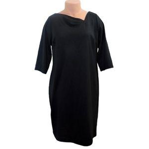 Lane bryant black shift dress size 14/16 xlarge